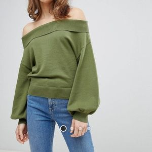 ASOS Off Shoulder Sweater NWOT